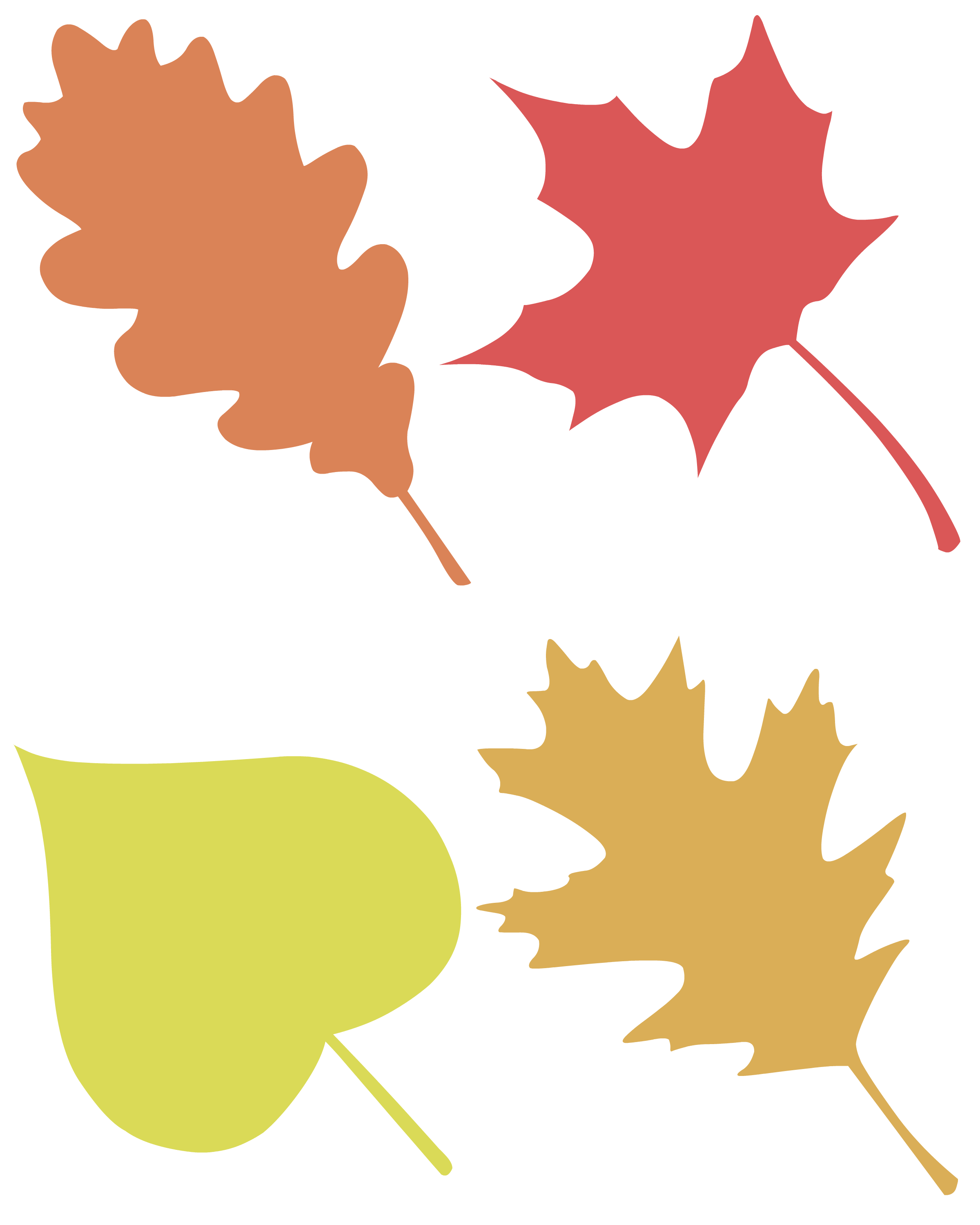 2400x3000 Almost Mess Free Leaf Silhouette Paintings Pint Sized Treasures