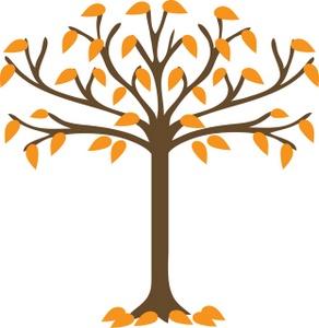 292x300 Fall Leaf Silhouette Clipart