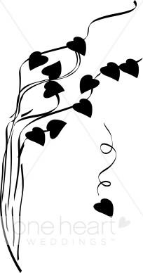 204x388 Falling Hearts Clipart Fall Wedding Clipart