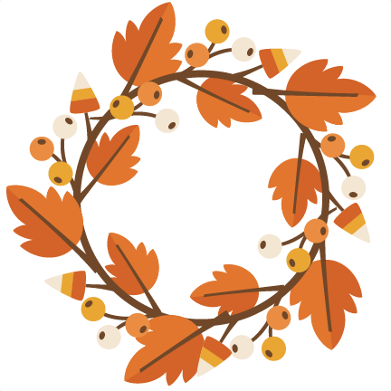 432x432 Fall Wreath Svg Cutting File For Electronic Cutting Machines Fall