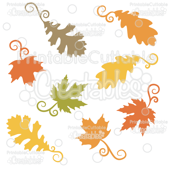 650x650 Fancy Swirls Autumn Leaves Free Svg Cutting Files Amp Clipart