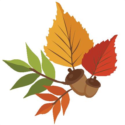 432x432 Autumn Leaves Svg Scrapbook Cut File Cute Clipart Files