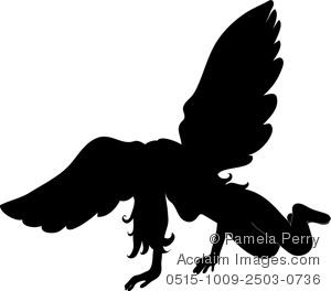 300x264 Art Image Of A Fallen Angel In Silhouette Cut Designs