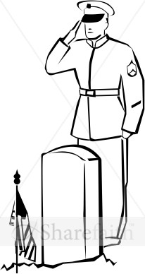 206x388 Drawn Soldier Black And White