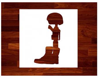 340x270 Soldier Stencil Etsy