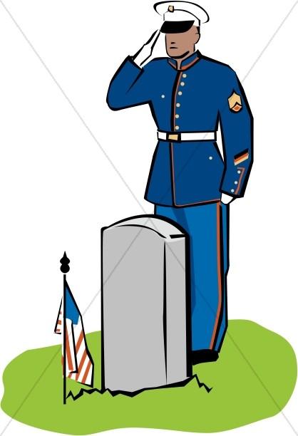 418x612 Fallen Soldier Memorial Clip Art