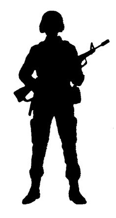 236x443 American Soldiers Clipart