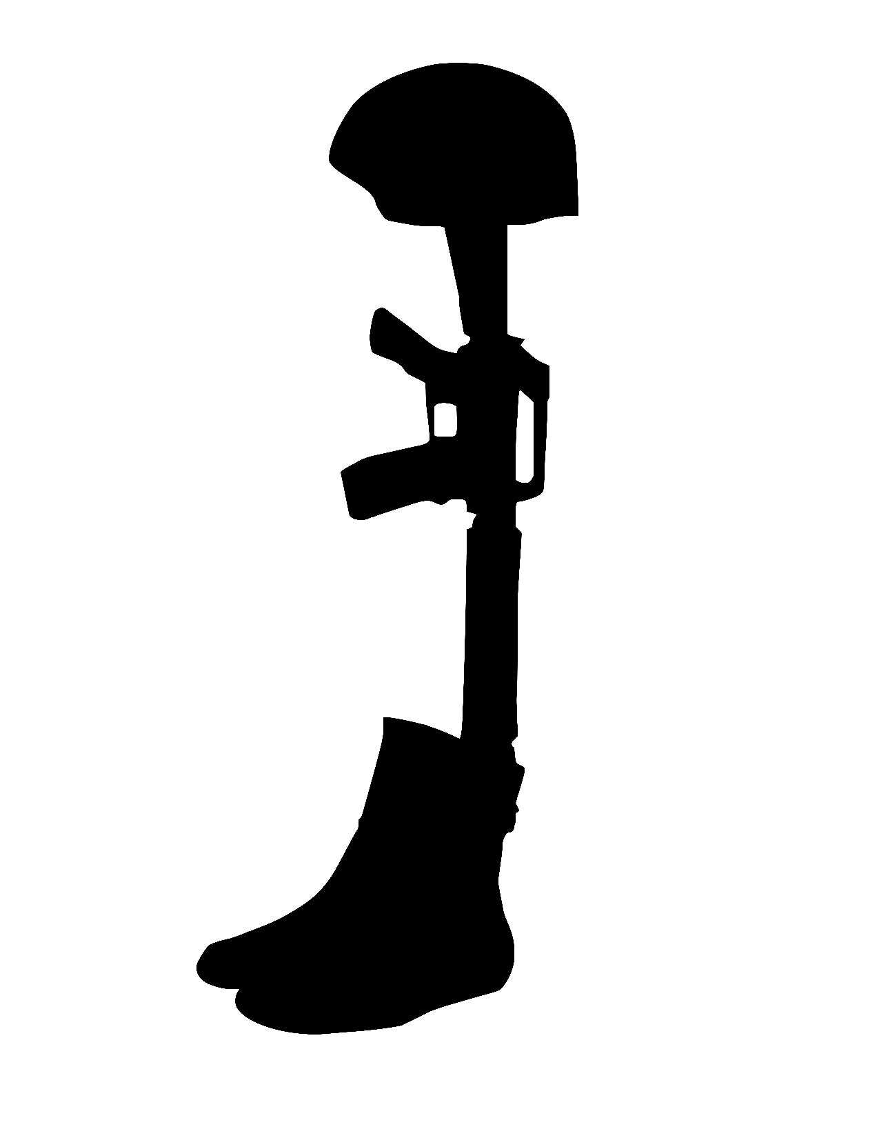 fallen soldier silhouette at getdrawings com free for personal use