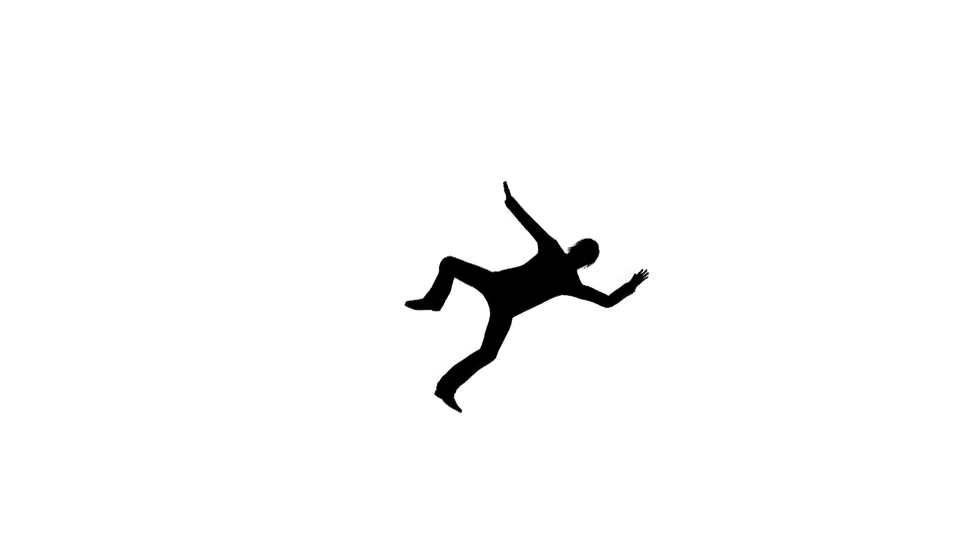 1920x1080 Falling Man Silhouette Shadow Motion Background