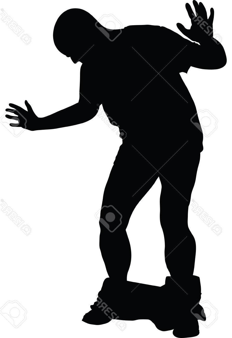 893x1300 Hd Silhouette Of Man Reacting To His Pants Falling Down Stock