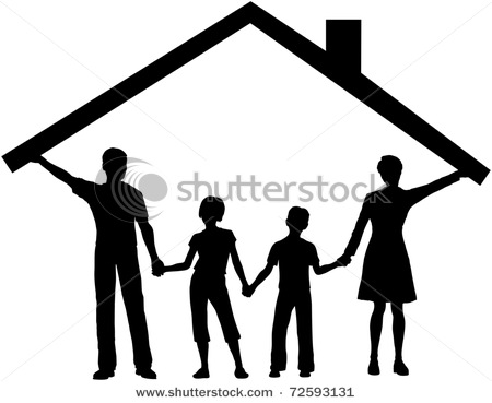 450x369 Silhouette Picture Of A Family Safe