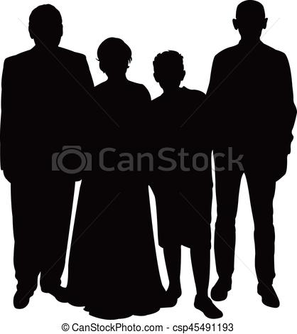 418x470 A Family Together, Silhouette Vcetor Eps Vectors