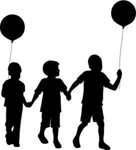 272x300 Clipart Silhouette Family With Young Children Holding Hands