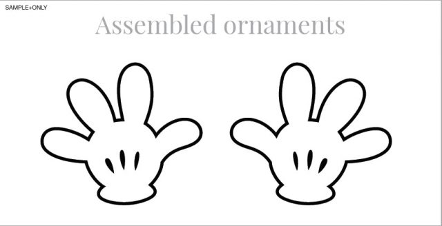640x328 Mickey Mouse Glove Template 5 Hand Endowed Imagine Plus Silhouette