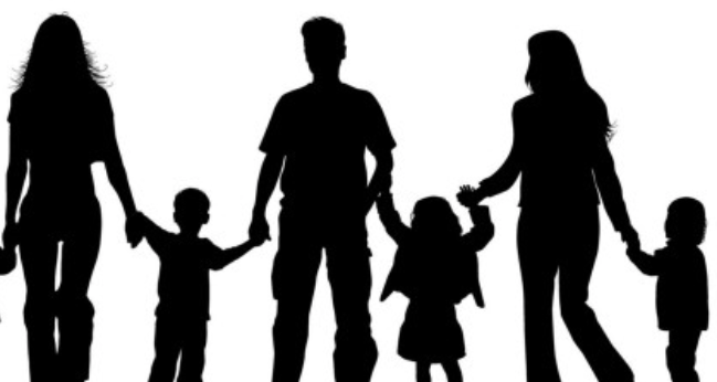 Family Of Five Silhouette