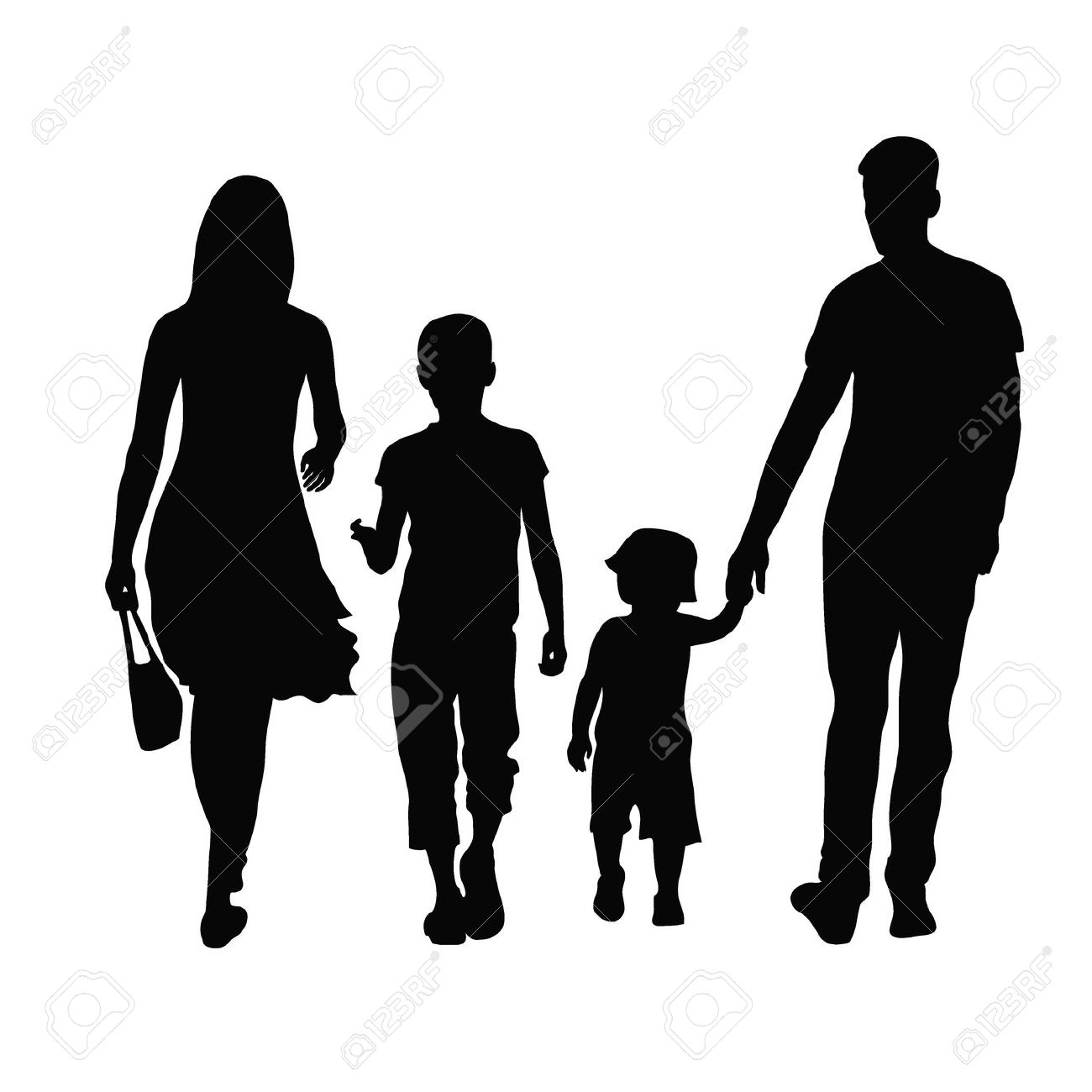 1300x1300 Family Silhouette Vector