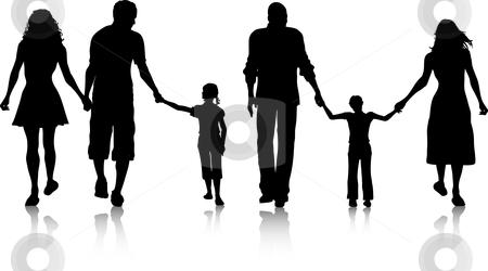 450x250 Black Family Silhouette Clip Art