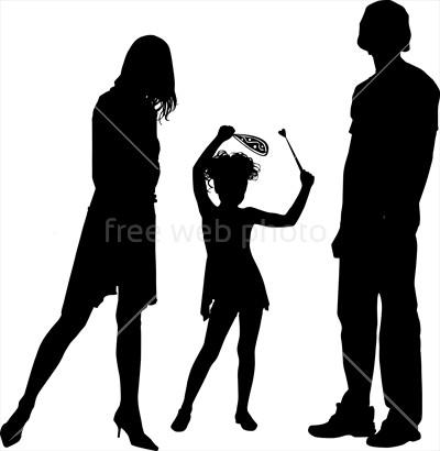 400x410 Happy Family Silhouette