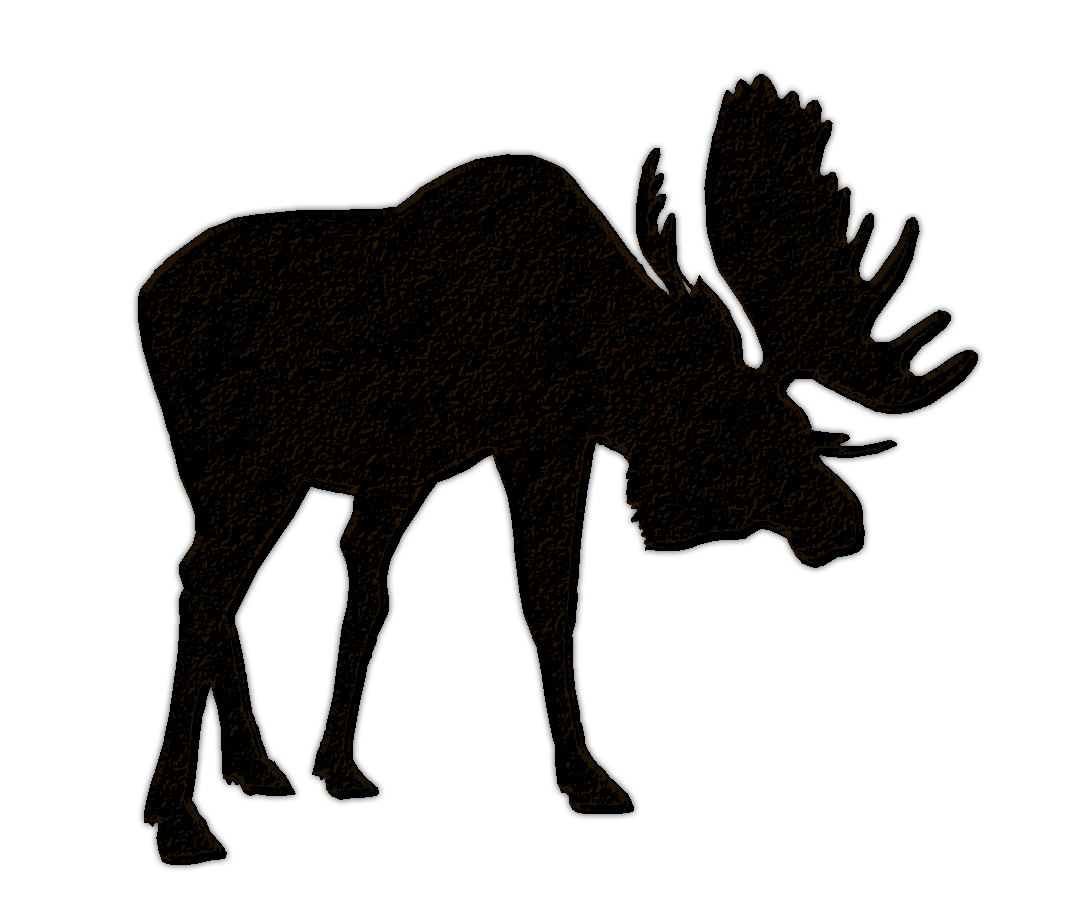 1077x909 Moose Family Silhouette