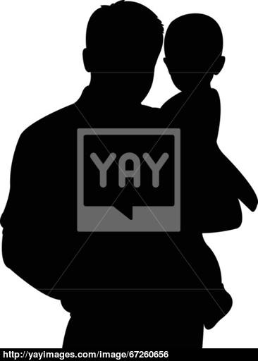366x512 Happy Family Portrait Silhouette Vector Vector