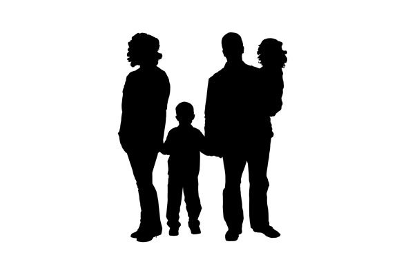 575x383 Craft How To Make A Family Portrait Silhouette On Woodmom It Forward
