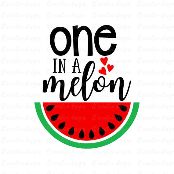 570x568 One In A Melon Svg, Watermelon Svg, One In A Million Svg, Summer