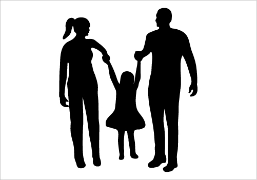 501x351 Happy Silhouette Happy Family Silhouette Graphics Silhouettes