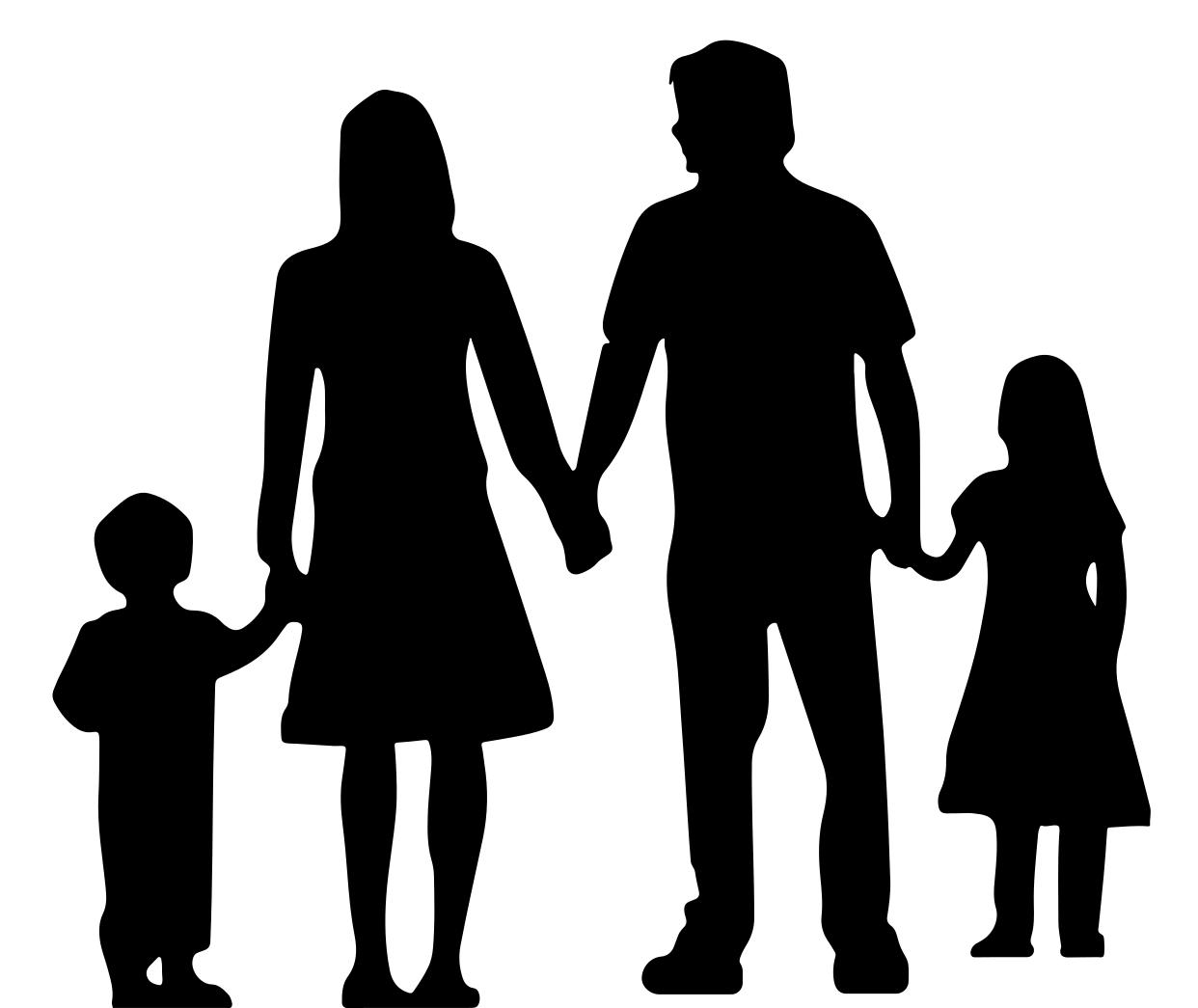 1242x1045 Nuclear Family Silhouette Without Ground Clipart