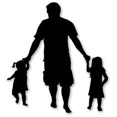 236x236 9 by 12 Custom Family Portrait Silhouette Art Black silhouette