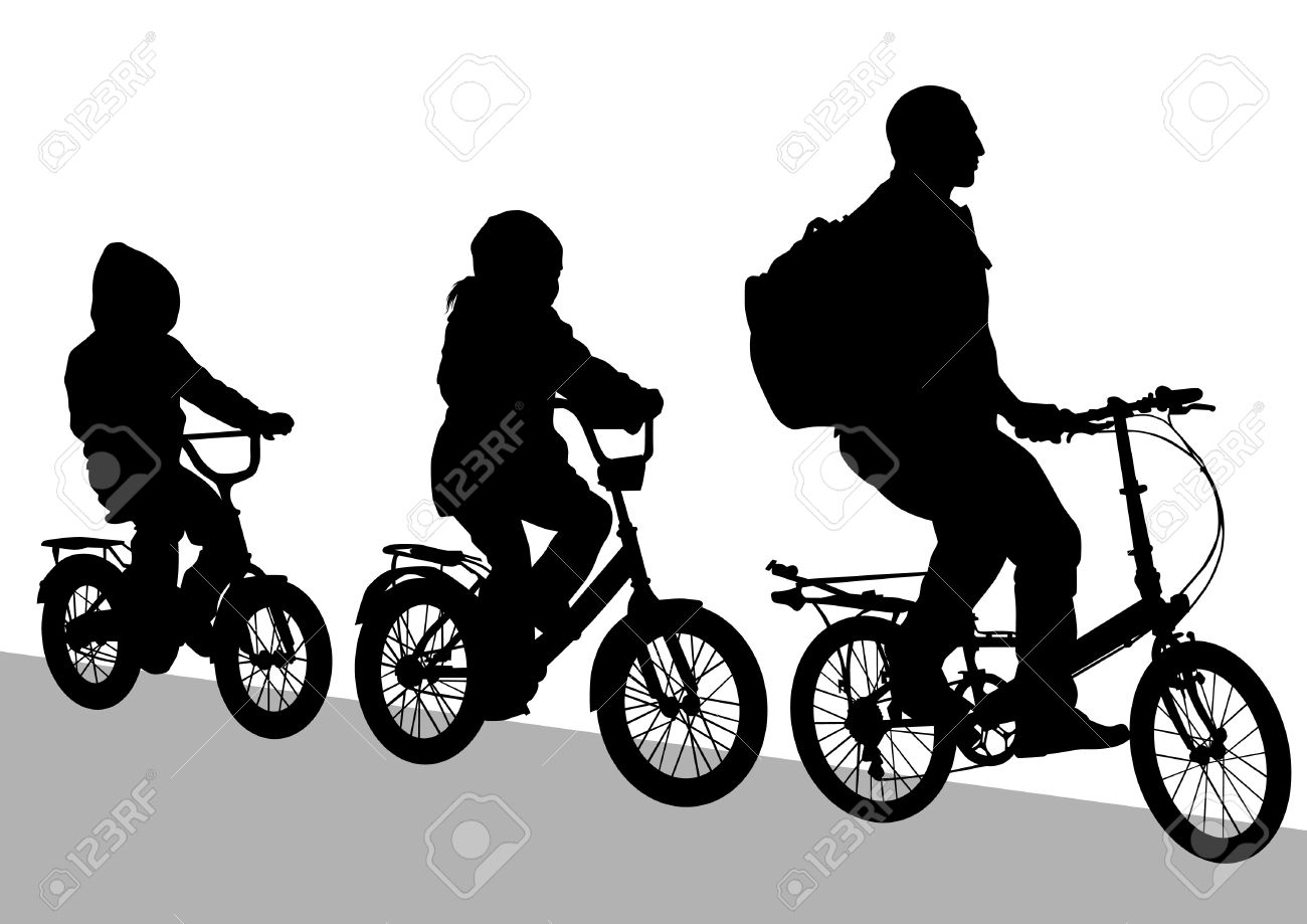 1300x919 Silhouette Bicycle Clipart