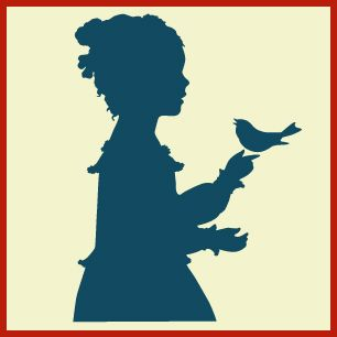 306x306 Silhouette girl with bird, silhouette girl, sillouette family