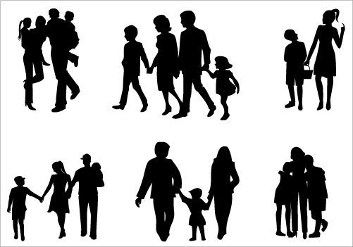 501x351 Family Silhouette Clip Art packSilhouette Clip Art SILUETAS PARA