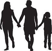 170x167 Black Silhouettes Family On White Premium Clipart
