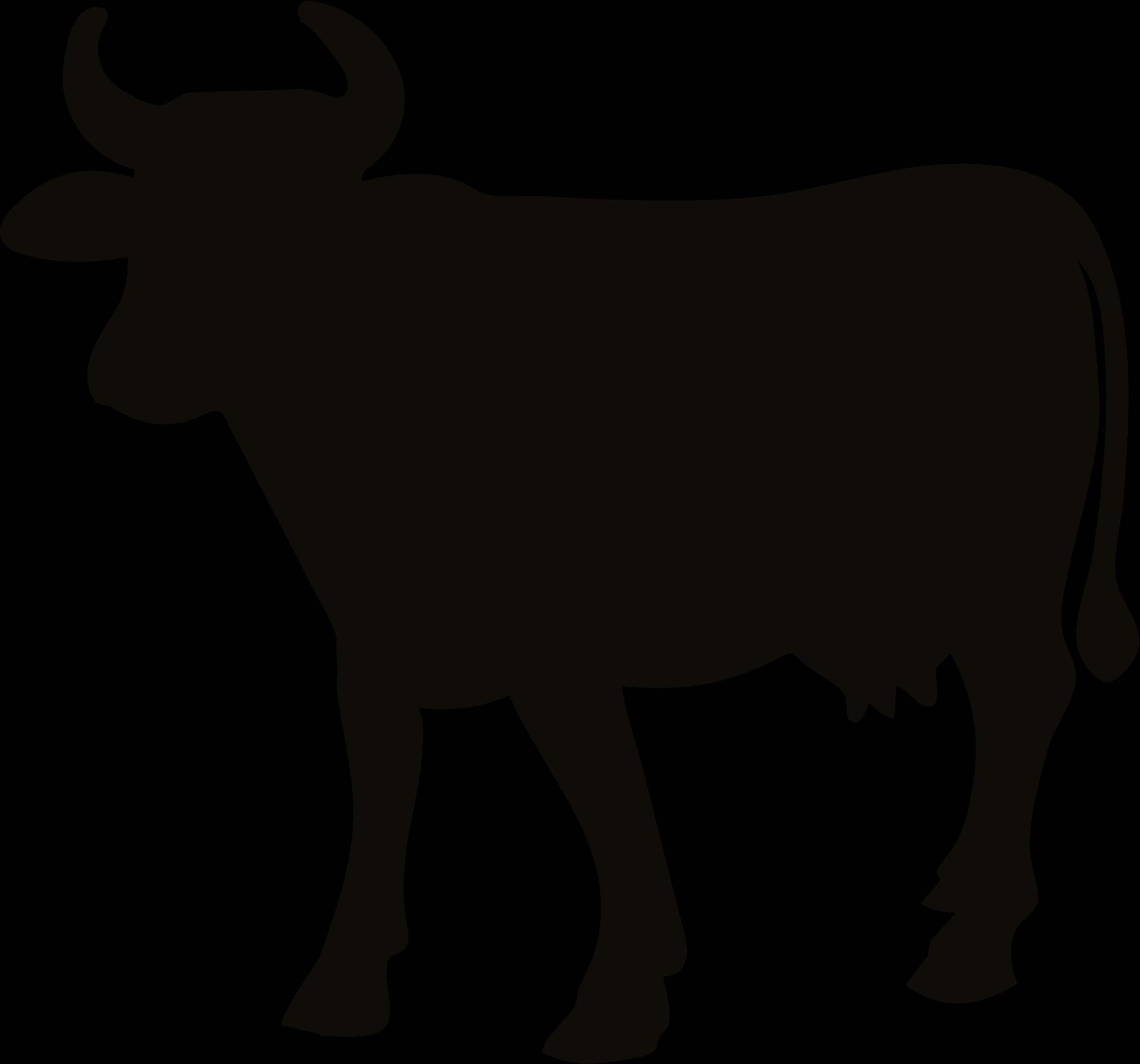 2400x2239 Clipart Cow Silhouette