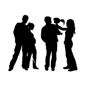 300x300 Family Silhouette Vector