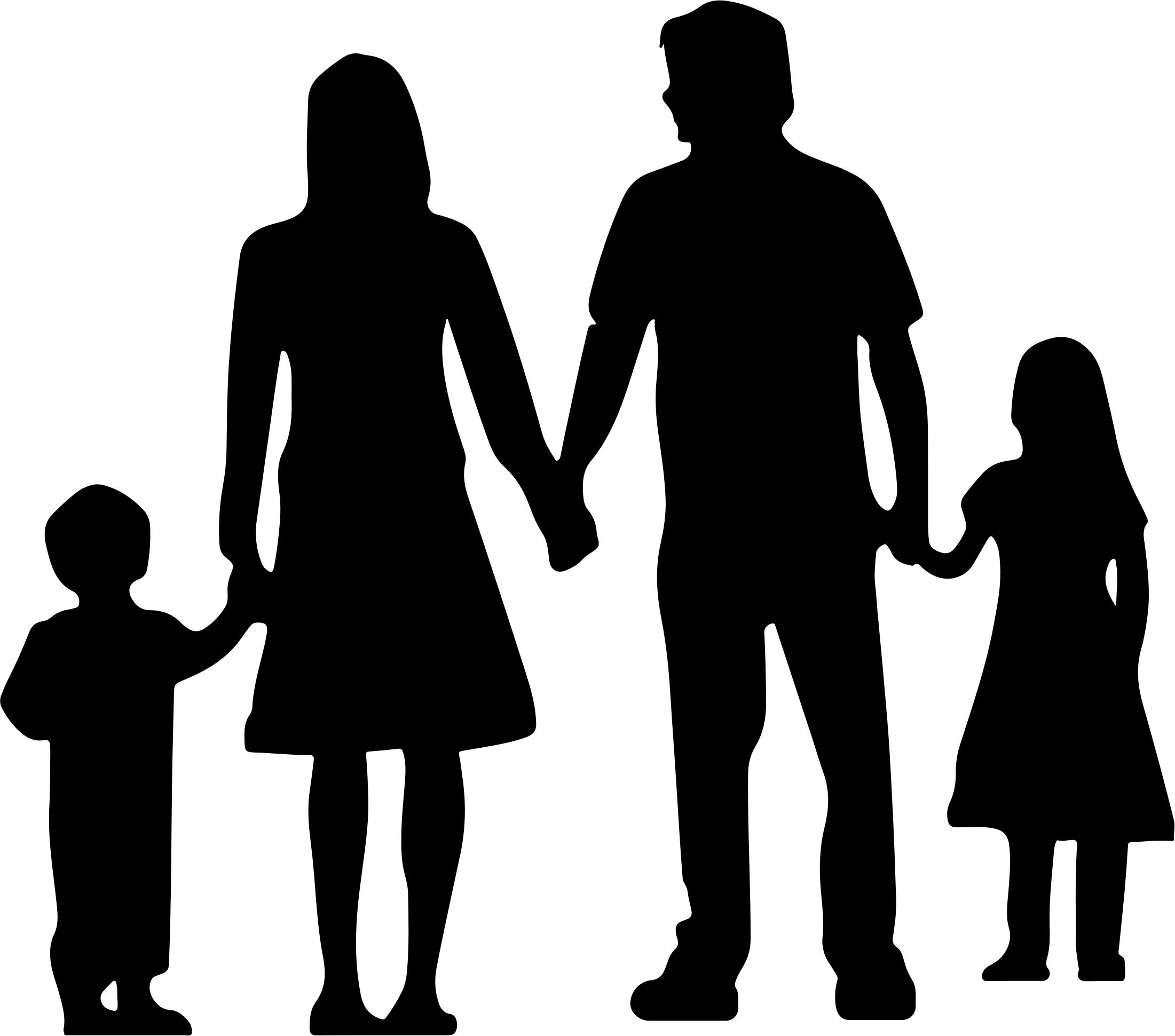 2201x1941 Nuclear Family Silhouette Without Ground Icons Png