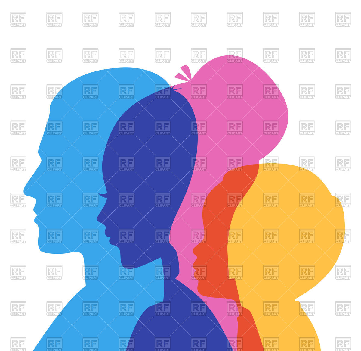1200x1165 Silhouette Of Family (Father, Mother And Son) Royalty Free Vector