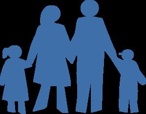 299x234 Family Silhouette Clip Art