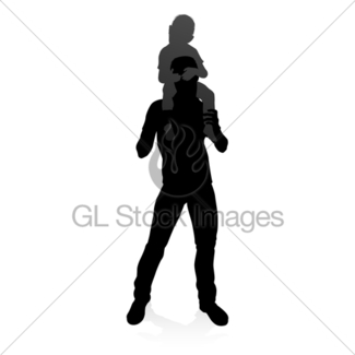 325x325 Family Silhouette Gl Stock Images