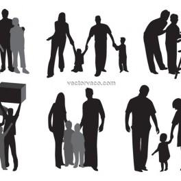 264x264 Holy Family Silhouette Clip Art