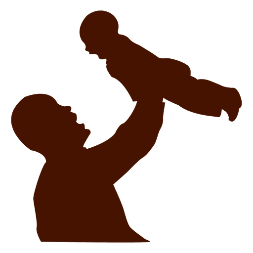 512x512 Dad Child Family Silhouette