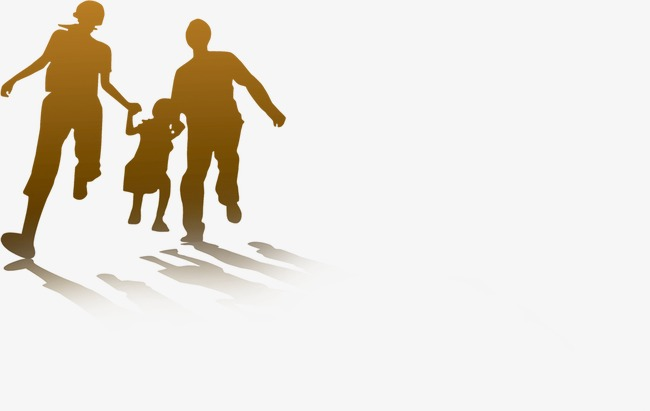 650x411 Family Silhouette, Family, Hand Painted, Sketch Png Image