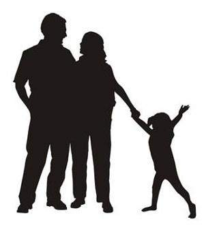 299x330 Family Silhouette 4 Decal Sticker