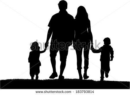 450x328 Family Silhouette Vector File Vecteezy Family Silhouette