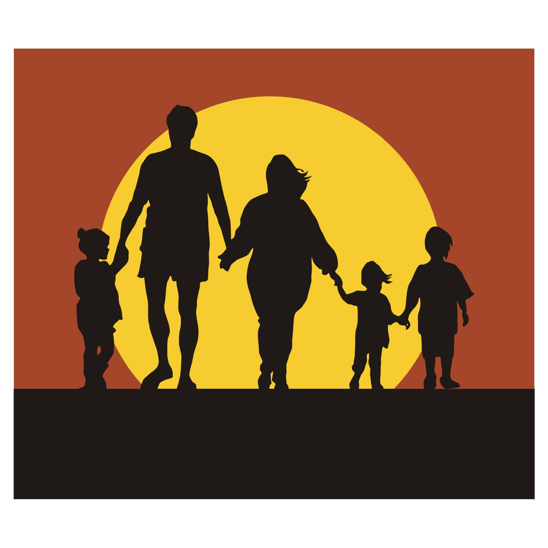 1500x1500 Family Silhouette Vector Graphicssilhouette Clip Art