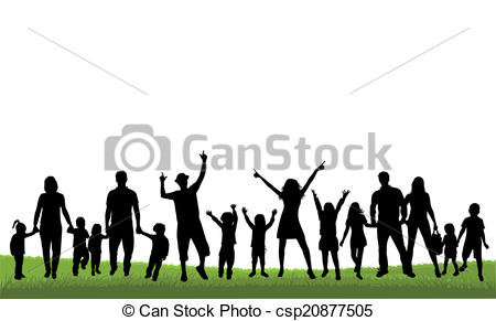 450x291 Family Silhouettes Vector Clipart