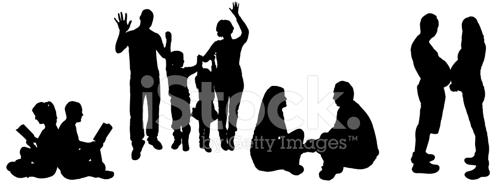 1024x383 Vector Illustration With Family Stock Photos