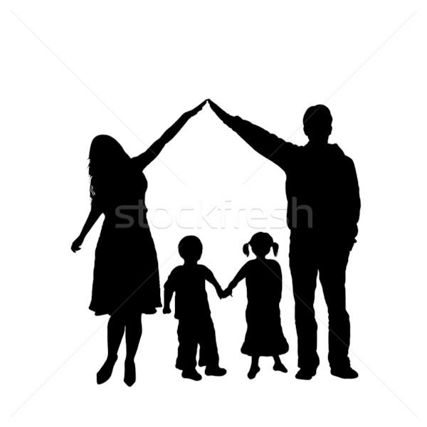 600x600 Caring Family Silhouette Vector Illustration Ioana Martalogu