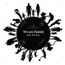 225x225 Family Silhouette Vector