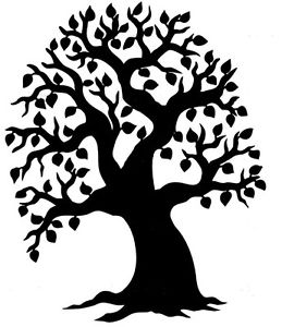 259x300 1 X Large Tree Silhouette For Family Tree Craft Idea 25.5cm Tall